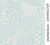 seamless vector floral pattern. ...   Shutterstock .eps vector #1445921729