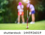Golf Ball Hit Or Putt By The...