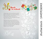 gray back to school background... | Shutterstock .eps vector #1445926043