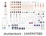 woman scientist or scientific... | Shutterstock .eps vector #1445947580