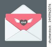 vector icon love letter...   Shutterstock . vector #1445962076