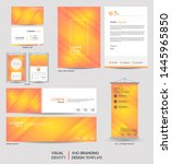 modern stationery mock up set... | Shutterstock .eps vector #1445965850