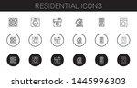 residential icons set.... | Shutterstock .eps vector #1445996303