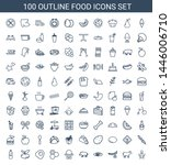 food icons. trendy 100 food... | Shutterstock .eps vector #1446006710