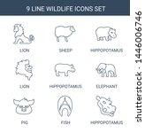9 wildlife icons. trendy... | Shutterstock .eps vector #1446006746
