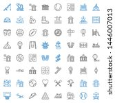recreation icons set.... | Shutterstock .eps vector #1446007013