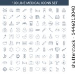 100 medical icons. trendy... | Shutterstock .eps vector #1446013040