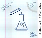test tube and flask   chemical... | Shutterstock .eps vector #1446017876