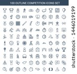competition icons. trendy 100... | Shutterstock .eps vector #1446019199