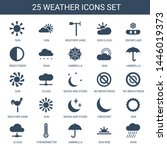 weather icons. trendy 25... | Shutterstock .eps vector #1446019373