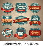 premium quality labels | Shutterstock .eps vector #144602096