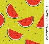 watermelon seamless pattern...   Shutterstock .eps vector #1446050150