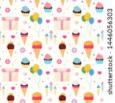 happy birthday colorful... | Shutterstock .eps vector #1446056303