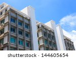 building and blue sky in... | Shutterstock . vector #144605654