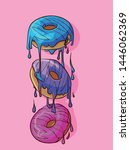 donuts with frosting on top... | Shutterstock .eps vector #1446062369