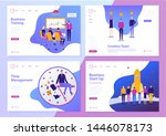 vector set of web page design... | Shutterstock .eps vector #1446078173