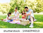 family  leisure and people... | Shutterstock . vector #1446094013