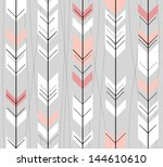 seamless geometric pattern in... | Shutterstock .eps vector #144610610