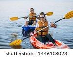 Couple Together Kayaking On Th...