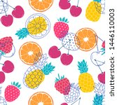 seamless pattern with colorful... | Shutterstock .eps vector #1446110003