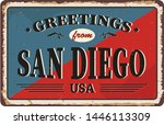 san diego city vintage poster... | Shutterstock .eps vector #1446113309