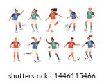 collection of funny female... | Shutterstock .eps vector #1446115466