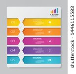 abstract 5 steps presentation... | Shutterstock .eps vector #1446115583