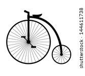 penny farthing. silhouette of... | Shutterstock .eps vector #144611738