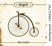 penny farthing on grange paper. ... | Shutterstock .eps vector #144611744