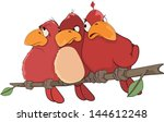 Red Birds. Cartoon
