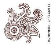 floral decorative pattern.... | Shutterstock .eps vector #1446130556