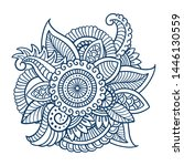 floral decorative pattern.... | Shutterstock .eps vector #1446130559