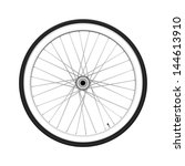bicycle wheel. fixed gear | Shutterstock .eps vector #144613910