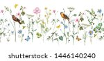 delicate floral horizontal... | Shutterstock . vector #1446140240