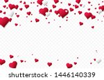 background with many falling... | Shutterstock .eps vector #1446140339