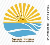 summer vacation over lineal... | Shutterstock .eps vector #144614483