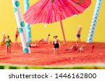 some miniature people wearing... | Shutterstock . vector #1446162800