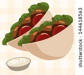 vector falafel   Shutterstock .eps vector #144618563