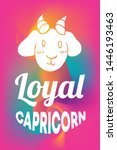 zodiac sign vector of capricorn ... | Shutterstock .eps vector #1446193463