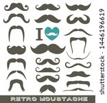 moustaches grey set of icons on ... | Shutterstock . vector #1446196619