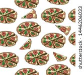 seamless pattern with whole and ...