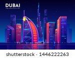 Dubai City With Hotel Tower...
