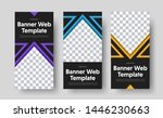 design of vector vertical black ... | Shutterstock .eps vector #1446230663