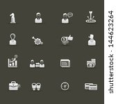 business management icons vector | Shutterstock .eps vector #144623264