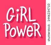 girl power inscription... | Shutterstock .eps vector #1446234710