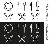 icon knife  fork and spoon.... | Shutterstock .eps vector #1446241769