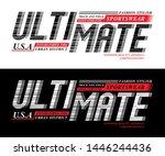typography ultimate sport  tee... | Shutterstock .eps vector #1446244436