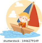 illustration of a kid boy... | Shutterstock .eps vector #1446279149