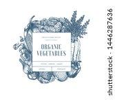 healthy organic vegetables... | Shutterstock .eps vector #1446287636