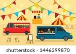 food festival concept banner.... | Shutterstock .eps vector #1446299870